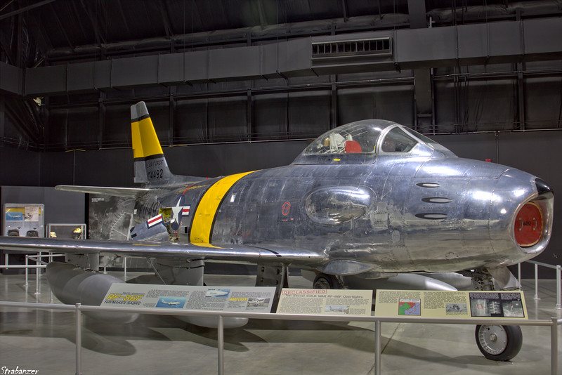 National Museum of the United States Air Force, Dayton, Ohio,   04/13/2019  North American RF-86F Sabre c/n 191-188  52-4492   This work is licensed under a Creative Commons Attribution- NonCommercial 4.0 International License.
