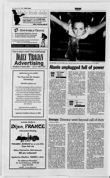 Daily Trojan, Vol. 139, No. 8, January 24, 2000
