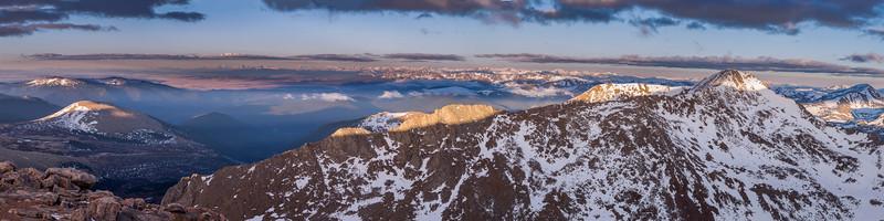 Mount Bierstadt Panorama from Mount Evans