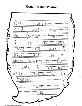 Letters to Santa - Mrs. Garner's first grade, 12/4/2018