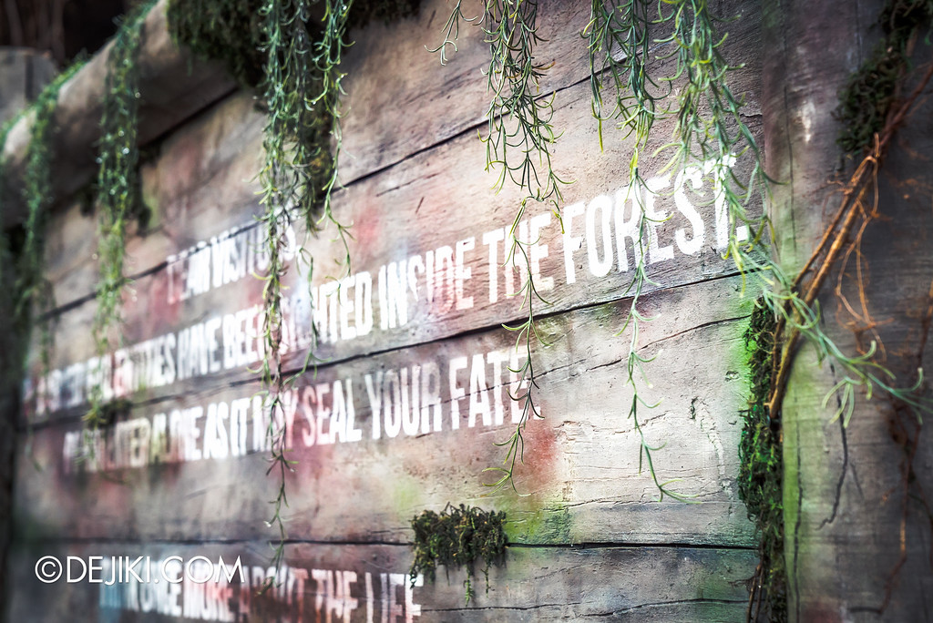 Universal Studios Singapore - Halloween Horror Nights 6 Before Dark Day Photo Report 2 - Suicide Forest warning signs