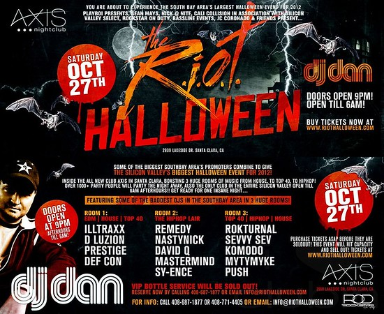 Riot Halloween @ Axis Nightclub 10.27.12