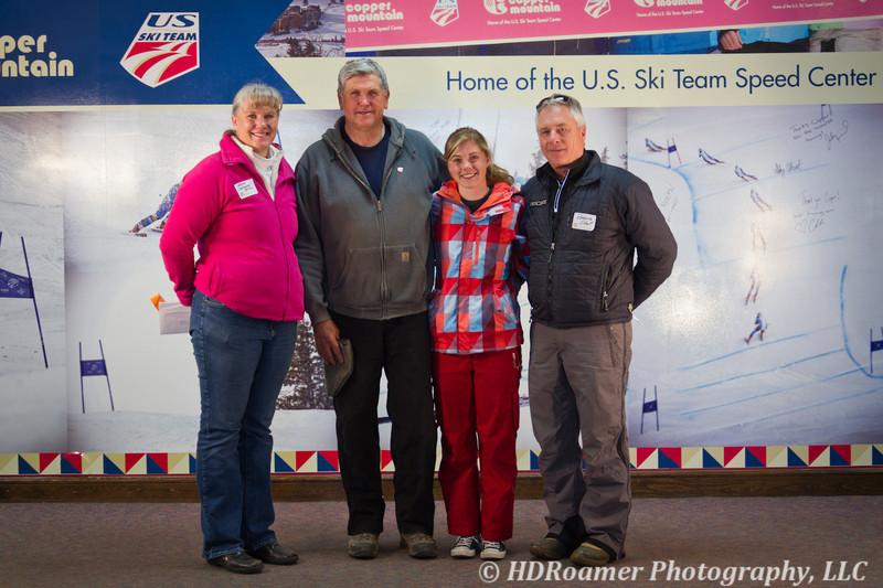 Leslie (Williams) Sturm, Kevin Williams, Leah & Robbie Scholl