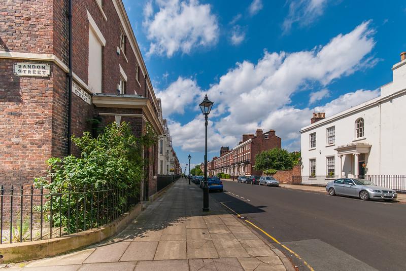 Corner of Sandon Street and Huskisson Street, Liverpool