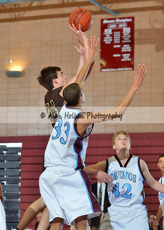 Boys JV basketball - Holt at Okemos - Feb 16