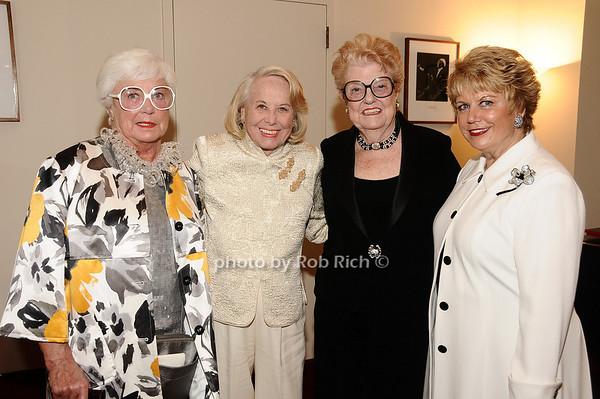 Ruth Henderson, Liz Smith, June Freemanson, Lesley Hall photo by Rob Rich © 2010 robwayne1@aol.com 516-676-3939