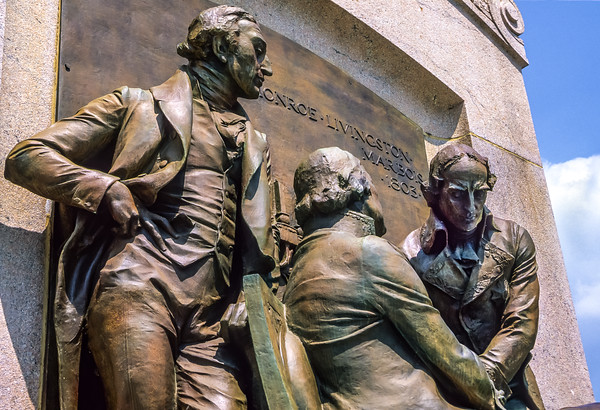 Louisiana Purchase Treaty signers, making possible Lewis & Clark Expedition