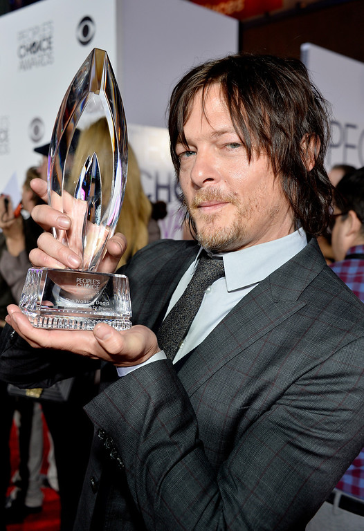 . LOS ANGELES, CA - JANUARY 08:  Actor Norman Reedus attends The 40th Annual People\'s Choice Awards at Nokia Theatre L.A. Live on January 8, 2014 in Los Angeles, California.  (Photo by Frazer Harrison/Getty Images for The People\'s Choice Awards)