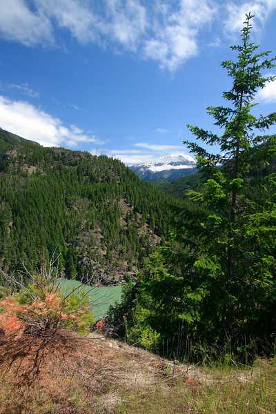 Diablo Dam lookout, looking towards Ross Dam