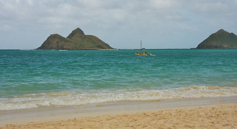 Lanikai Beach, Oahu and the Moku-lua Islands
