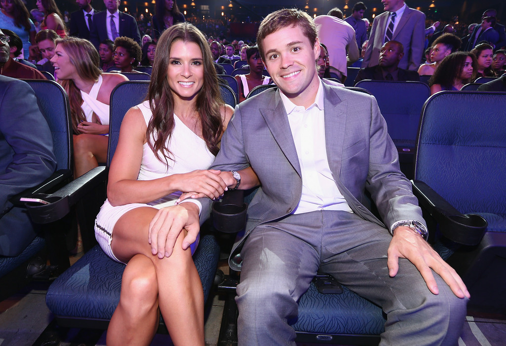 . LOS ANGELES, CA - JULY 16:  NASCAR drivers Danica Patrick (L) and Ricky Stenhouse Jr. attend The 2014 ESPYS at Nokia Theatre L.A. Live on July 16, 2014 in Los Angeles, California.  (Photo by Christopher Polk/Getty Images For ESPYS)