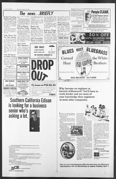 Daily Trojan, Vol. 58, No. 94, March 29, 1967