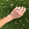 4.70ctw Antique Cushion Cut Trilogy Ring, GIA J/K VS 8