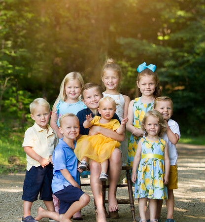 Brittanie Stephanie and Danielle  kiddos and family session 2021