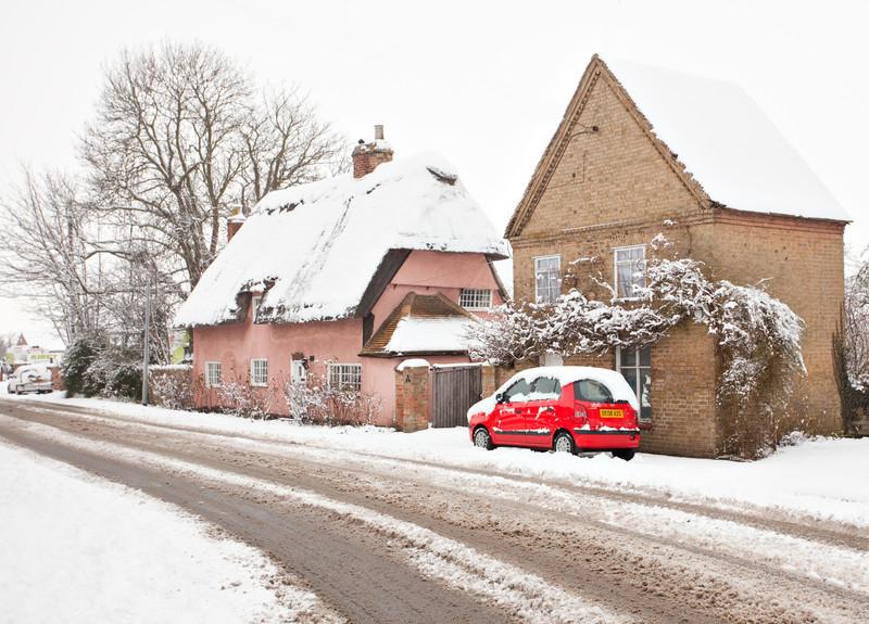 Hazel Cottage in the snow (Feb 2009)