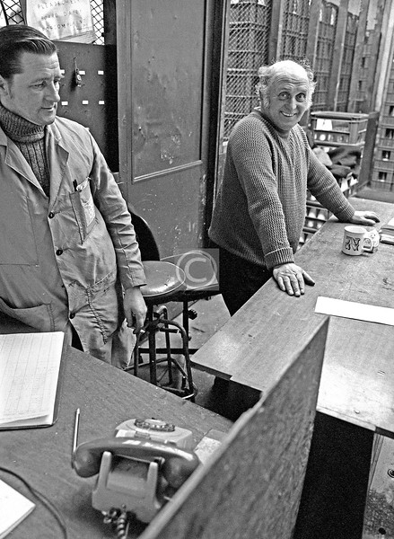 Peter and Bob (I think – he had only just been relocated from another depot that had been closed).