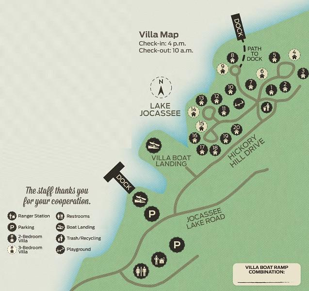 Devils Fork State Park (Villa Map)