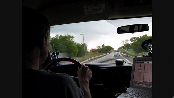 Video - 5/13/2009 Kay County, OK (driving west) Video of our vans as we approach a wall cloud and the formation of the tornado that day