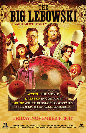 The Big Lebowski Movie Party (November 10, 2017)