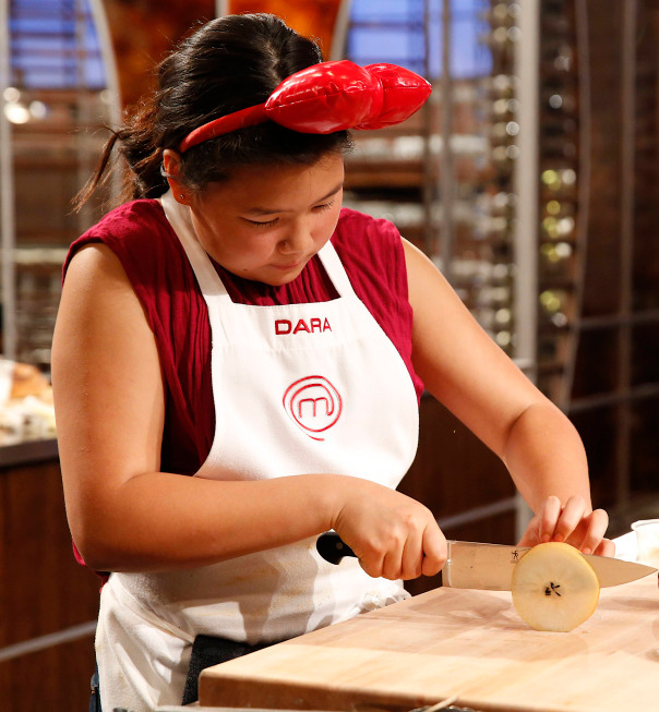 . Contestant Dara on MASTERCHEF JUNIOR airing Friday, Oct. 4 (8:00-9:00 PM ET/PT) on FOX. CR: Greg Gayne. © 2103 Copyright / FOX.
