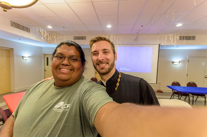 Selfie with Fr. Tim Hojnicki!