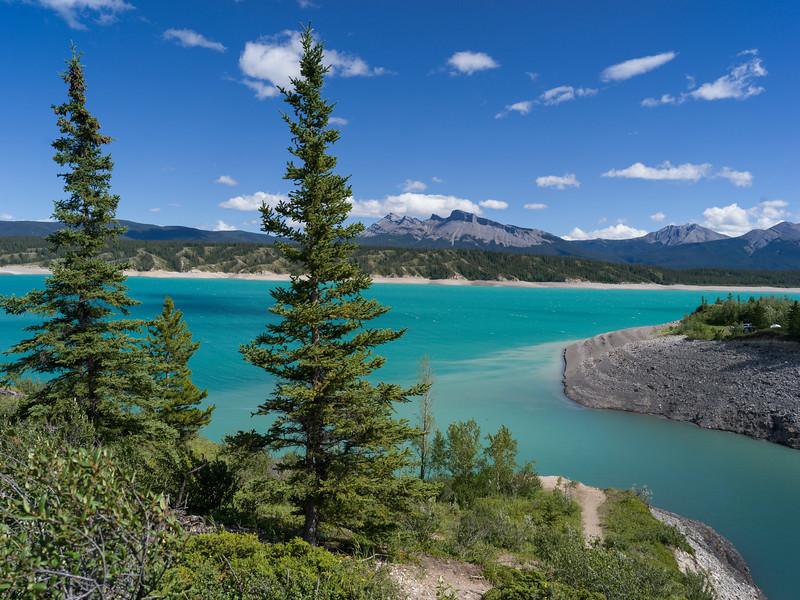 Abraham Lake, David Thompson Highway, Clearwater County, Alberta, Canada