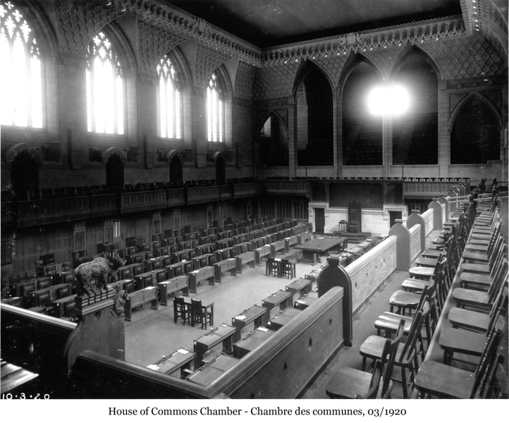 House of Commons Chamber - Chambre des communes, Mar 1920