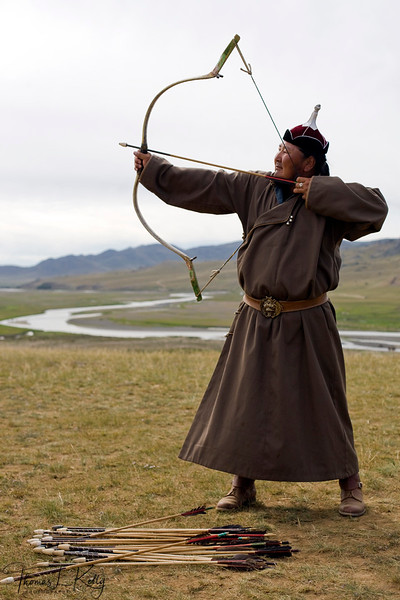 Archery at Naadam Festival