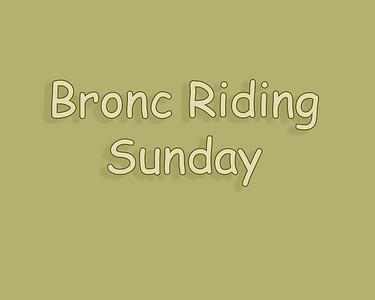 WOS 2018 Bronc Riding Sunday