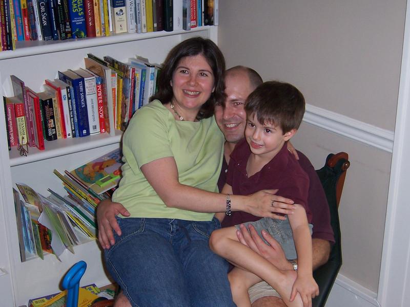 Mom, dad, and big boy Aaron.
