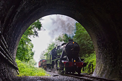 8F #8247 enters Barnston Tunnel with a southbound freight