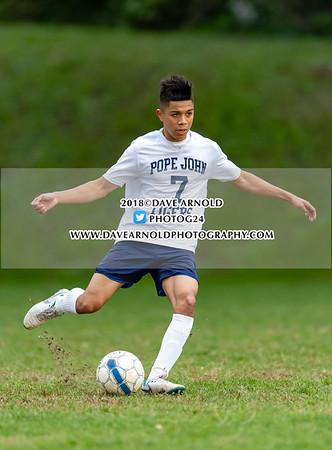 10/17/2018 - Boys Varsity Soccer - Pope John XXIII vs Matignon