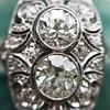 1.75ctw Edwardian Toi et Moi Old European Cut Diamond Ring  16
