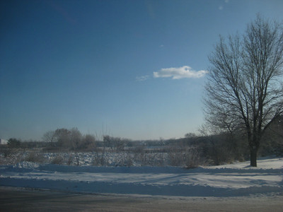 Driving to work after the snow: December 2009