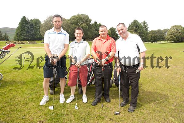 David McBurney, Chris Devine, Raymond Devine and Gerard McGuigan at Warrenpoint Golf Club. RS1533003