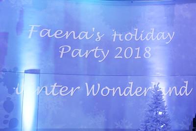 Faena Holiday Party... 2018!