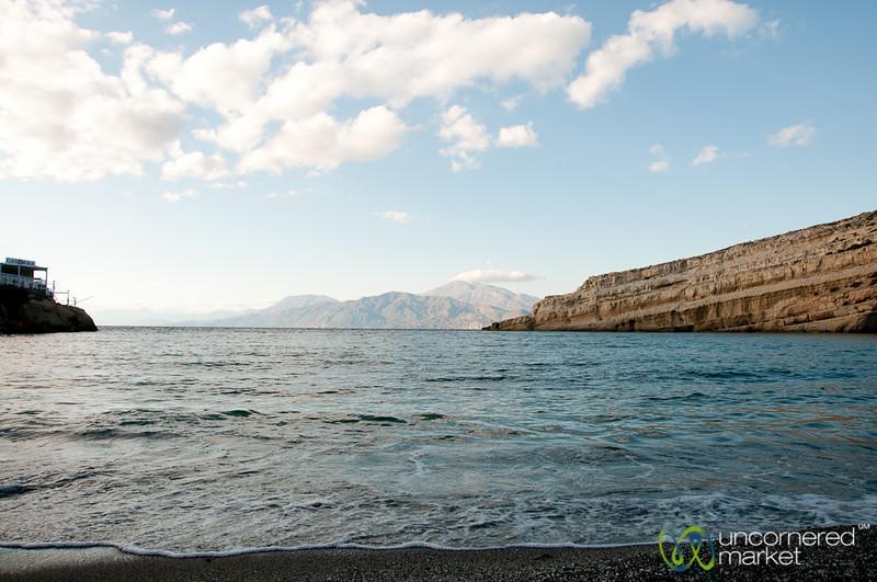 View of Libyan Sea from Matala - Crete, Greece