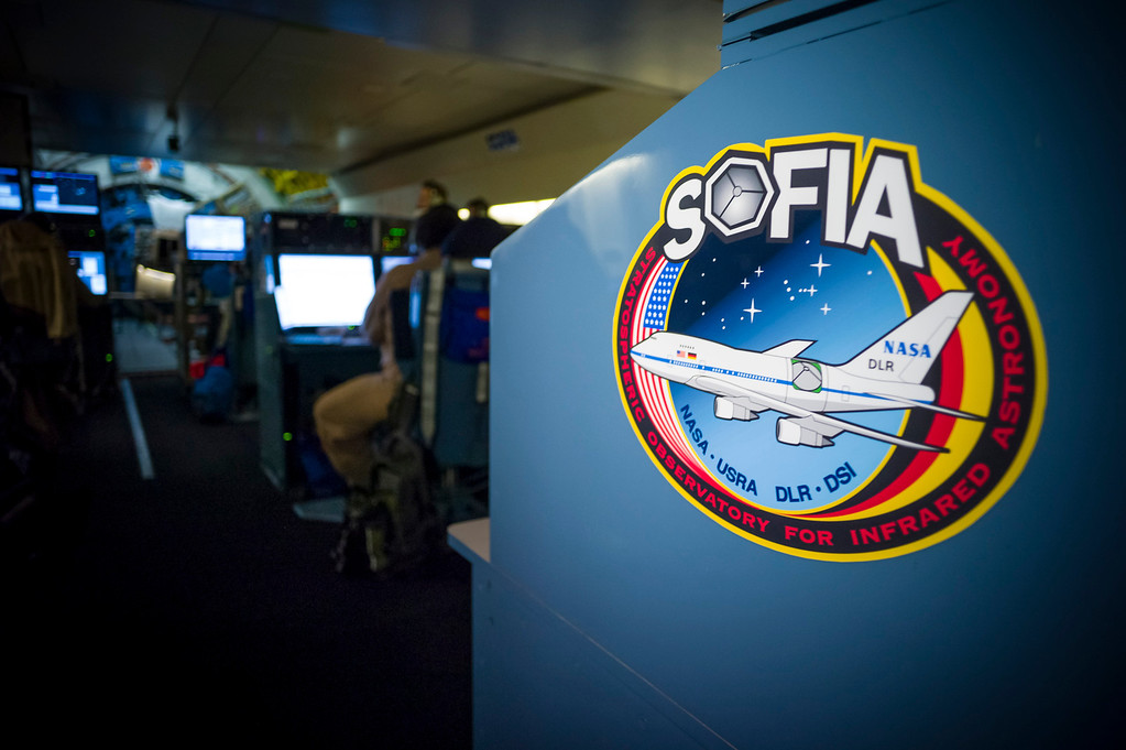 . NASA\'s SOFIA mission flight director Randy Grashuis sits at a console mid-jet on board the modified 747SP.   (Photo by David Crane/Los Angeles Daily News)