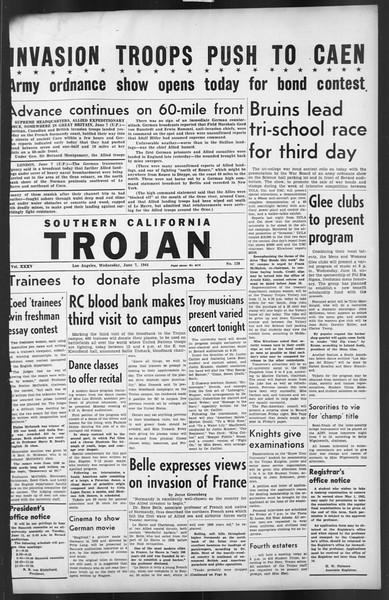 The Trojan, Vol. 35, No. 128, June 07, 1944
