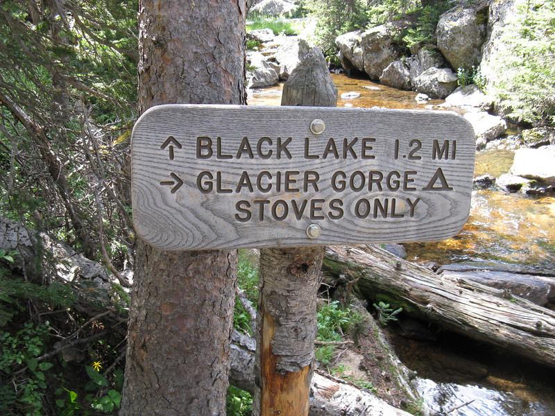 OK - time to cross Glacier Creek to my camp ...