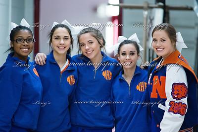 Cheerleaders at Region 12 & 13 Feb 2016