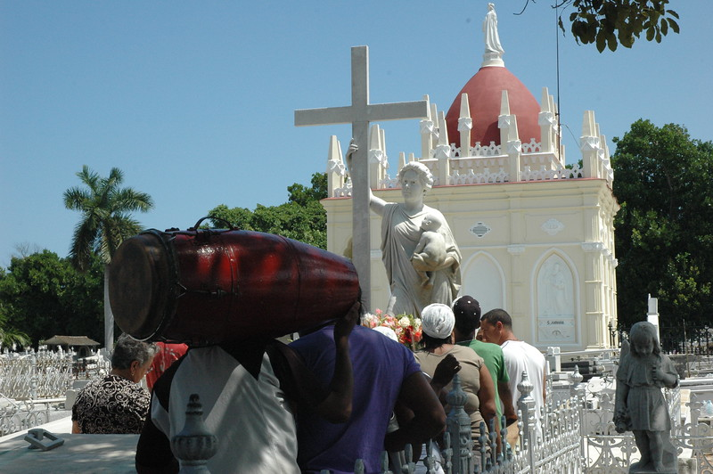 Ritual of thanksgiving at Colon Cemetery, Havana - Leslie Rowley