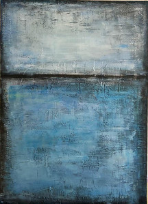 """""""Water"""" (acrylic on canvas with textured paste) by Tata Bo"""