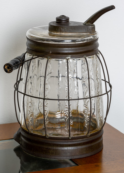 Berger's Glass Oil Can