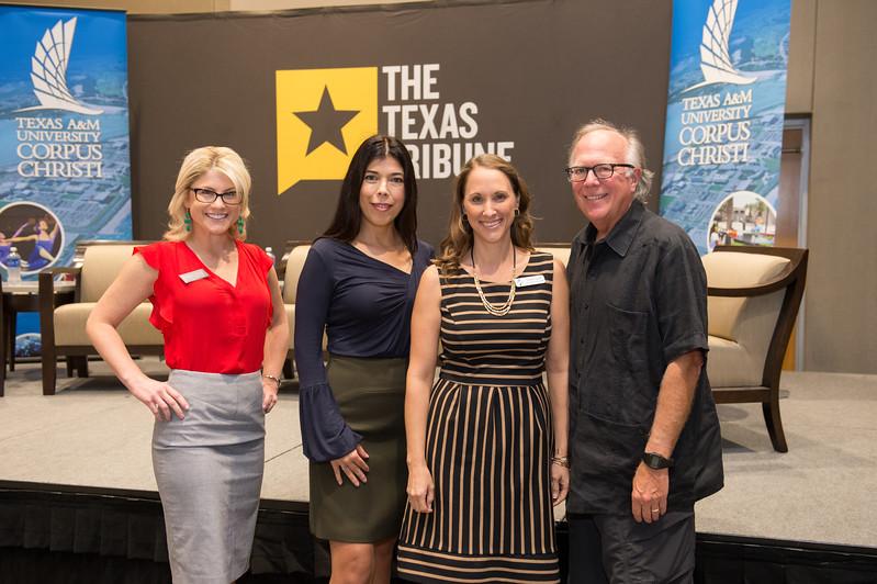 Hannah Chipman(left), Angie  Flores Granado, Doreen Harrell and Todd Hunter at the Texas Tribune event. Monday September 28, 2015 at TAMU-CC