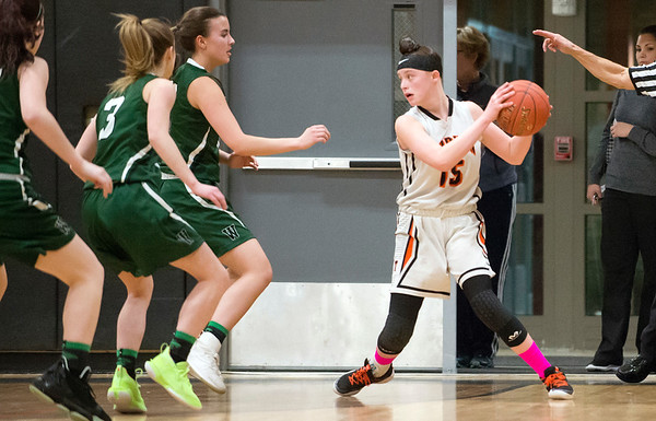 03/03/20 Wesley Bunnell | StaffrrThe EC Goodwin girls basketball team took on Griswold on Monday night March 3, 2020. Megan Lukosewski (15).