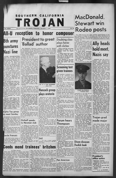 The Trojan, Vol. 35, No. 56, December 01, 1943