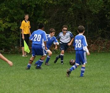 U-12 soccer V. Colchester  10/05/08 (L)