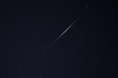 Iridium satellite flares