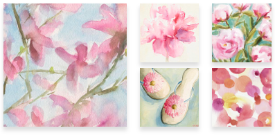 Pink Paintings Wall Art by Beverly Brown